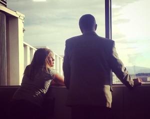 Rick Campbell & Daughter at Las Vegas Airport
